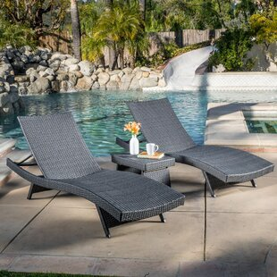 Avi 3 Piece Chaise Lounge Set