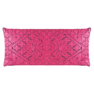 Poitra Embroidered Lumbar Pillow