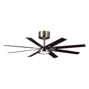 Read Reviews 60 Woodlynne 8 Blade LED Ceiling Fan with Remote By Wade Logan