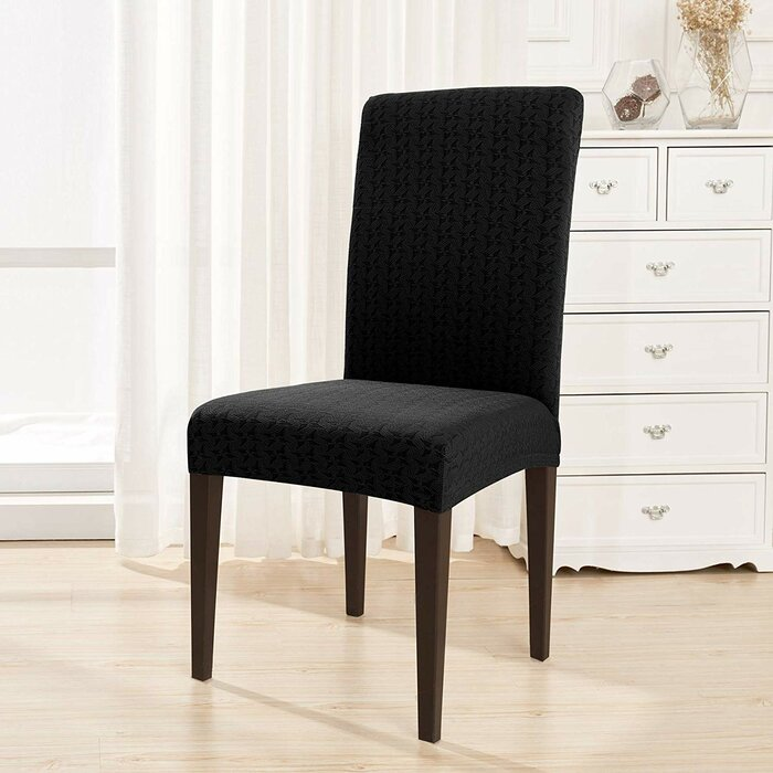 Windmill Printed Stretch Box Cushion Dining Chair Slipcover