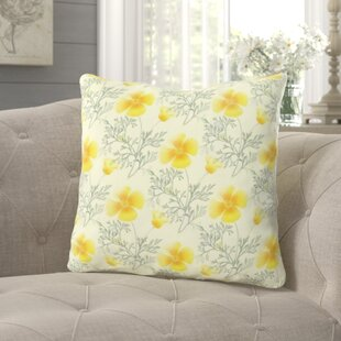Grijalva Floral Background Throw Pillow