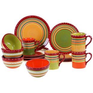 Candelas 16 Piece Dinnerware Set  sc 1 st  Wayfair & Orange Dinnerware Sets You\u0027ll Love | Wayfair