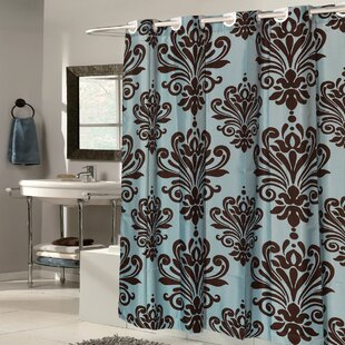 Fleur De Lis Fabric Shower Curtain By Sweet Home Collection