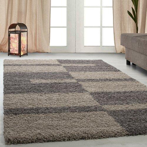 Shaggy-Teppich Leamon in Taupe Zipcode Design Teppichgröße: Rechteckig 80 x 150 cm | Heimtextilien > Teppiche > Sonstige-Teppiche | Zipcode Design
