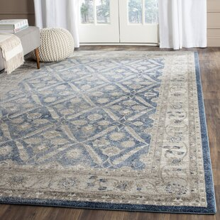 Compare Sofia Power Loom Blue/Beige Area Rug By Darby Home Co