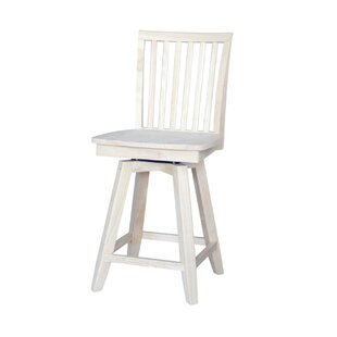 Rohnert Park 24 Swivel Bar Stool Loon Peak