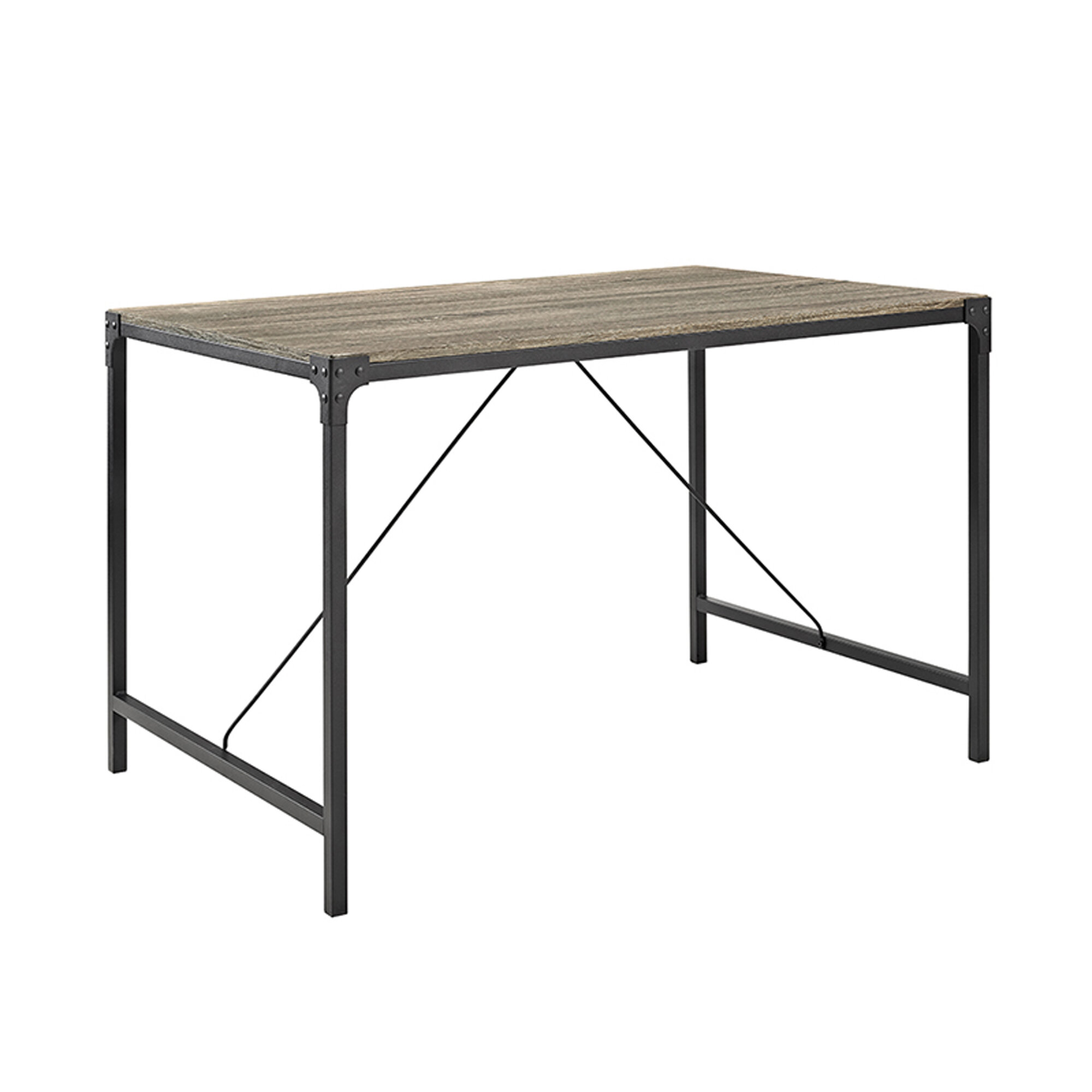Laurel Foundry Madeline Angle Iron And Wood Dining Table &