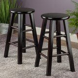 Abattoirs Solid Wood 24.4'' Counter Stool (Set of 2) by Red Barrel Studio®