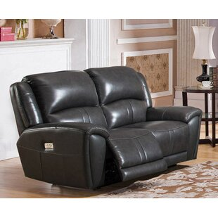 Shop Gutierez Leather Reclining Loveseat by Red Barrel Studio