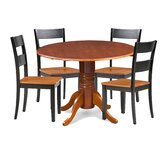 Cordell 5 Piece Drop Leaf Breakfast Nook Solid Wood Dining Set by Charlton Home®