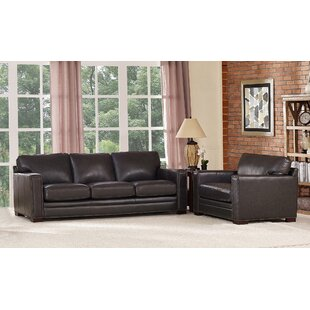 Neil Traditional Leather 2 Piece Living Room Set By Trent Austin Design