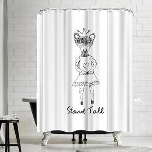 Hope Bainbridge Stand Tall Shower Curtain