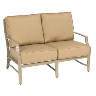 Seal Cove Loveseat with Cushions by Woodard