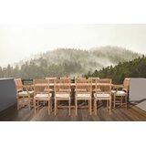 Dayne 11 Teak Dining Set with Sunbrella Cushions