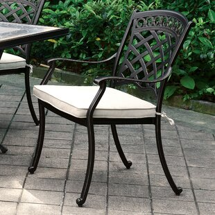Springfield Patio Dining Chair With Cushion (Set Of 2) by Canora Grey Looking for