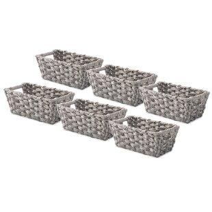 Reviews Split Rattique™ Storage Tote (Set of 6) ByWhitmor, Inc