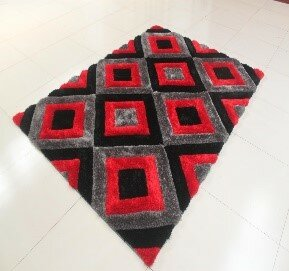 Top Reviews Kishor Black/Gray/Red Area Rug By Orren Ellis