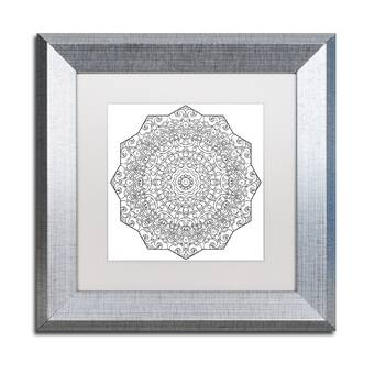 Trademark Art Mixed Coloring Book 20 By Kathy G Ahrens Framed Graphic Art Wayfair