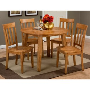 Wallis 5 Piece Drop Leaf Solid Wood Dining Set
