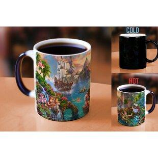 Thomas Kinkade Disney's Peter Pan's Neverland Painting Heat Reveal Ceramic Coffee Mug