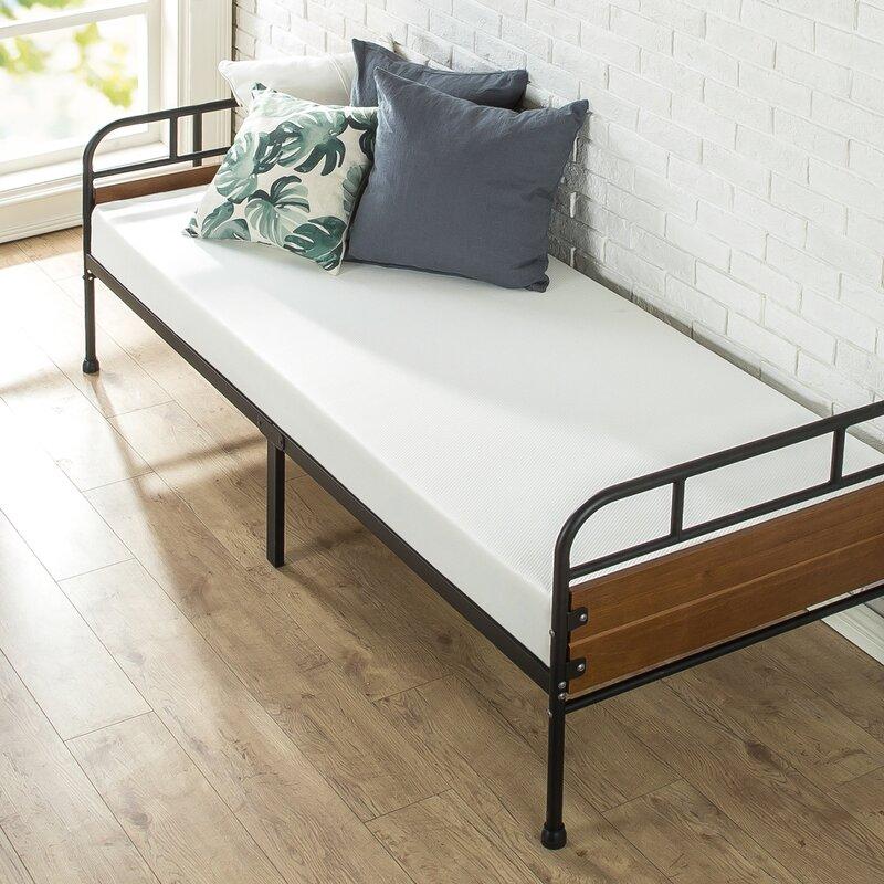 Latitude Run Townsel Narrow Frame Day Bed with Foam Mattress ...