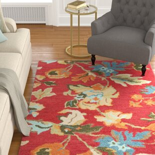 Price Check Bradwood Floral Red / Multi Contemporary Rug By Charlton Home