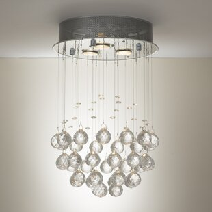 Budget Drewes 3-Light Crystal Pendant By Mercer41