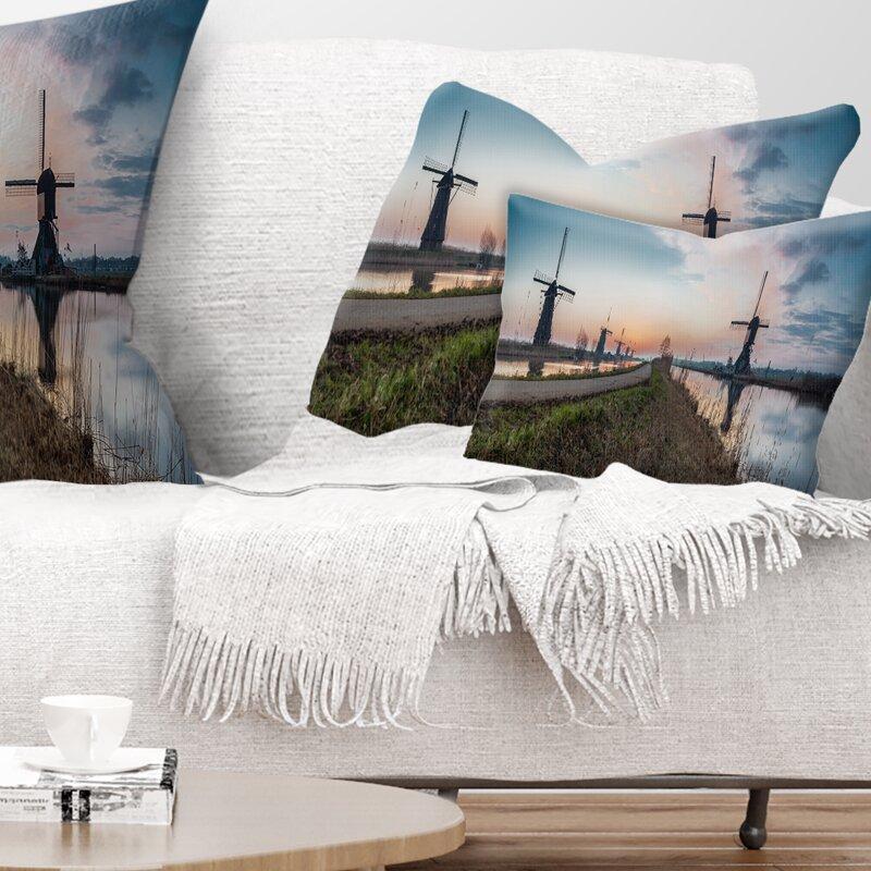 East Urban Home Landscape Printed Kinderijk Holland Panorama Throw Pillow Wayfair