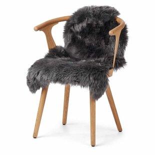 Handmade Sheepskin Dark Grey/Black Rug by Warm & Comfy