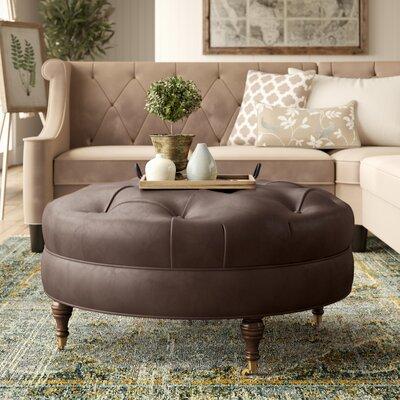 Marvelous Lowery Tufted Leather Ottoman Birch Lane Heritage Leg Color Uwap Interior Chair Design Uwaporg
