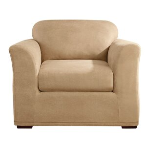 Stretch Leather Box Cushion Armchair Slipcover by Sure Fit
