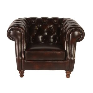 Beaufort Chesterfield Chair by Lazzaro Leather