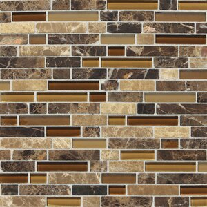 Stone Radiance Random Sized Slate Mosaic Tile in Butternut Emperador