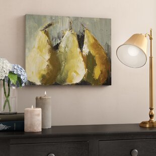 Modern Pears Painting Print On Wrapped Canvas