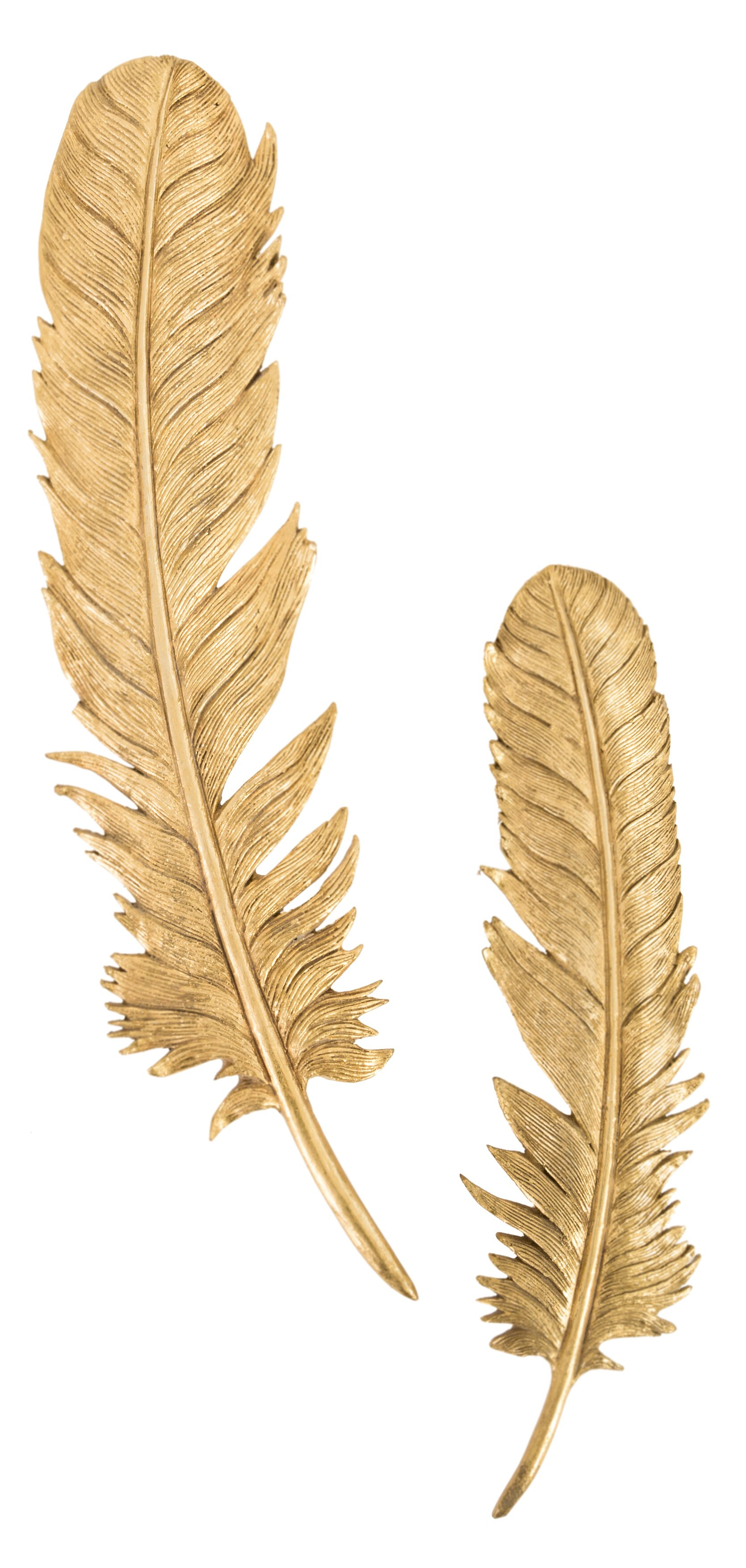 Phillips Collection 2 Piece Feathers Leaf Resin Wall Decor Set | Wayfair