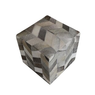 Golla Geometric Hide Pouf by Wrought Studio