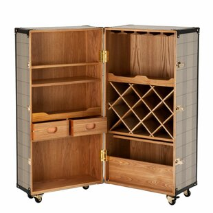 Wooden Wine Bar Cabinet