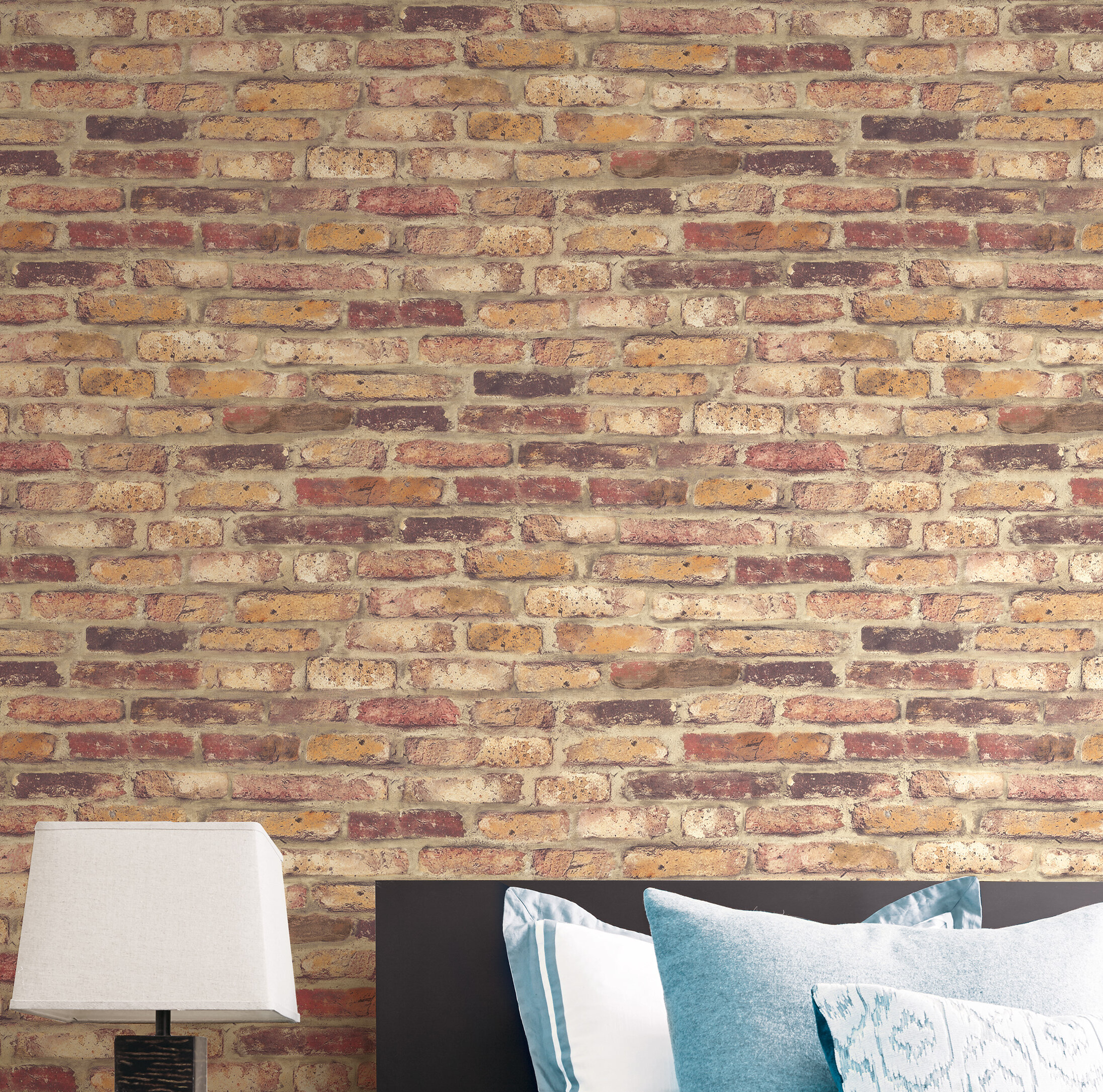 Peel-and-Stick Removable Wallpaper Brick Wall Old Modern Construction Kids