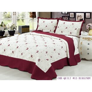 Sayreville 3 Piece California King Quilt Set