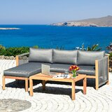 3 Piece Sofa Seating Group with Cushions by WELLFOR GROUP