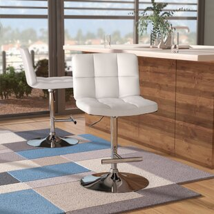 Alandra Adjustable Height Swivel Bar Stool (Set of 2)