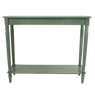 Adeline Console Table Color: Antique Teal by Andover Mills