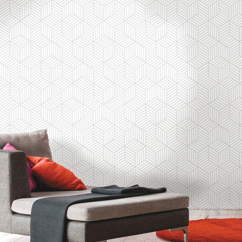 Wrought Studio Rumsey Striped Hexagon 165 L X 205 W Geometric