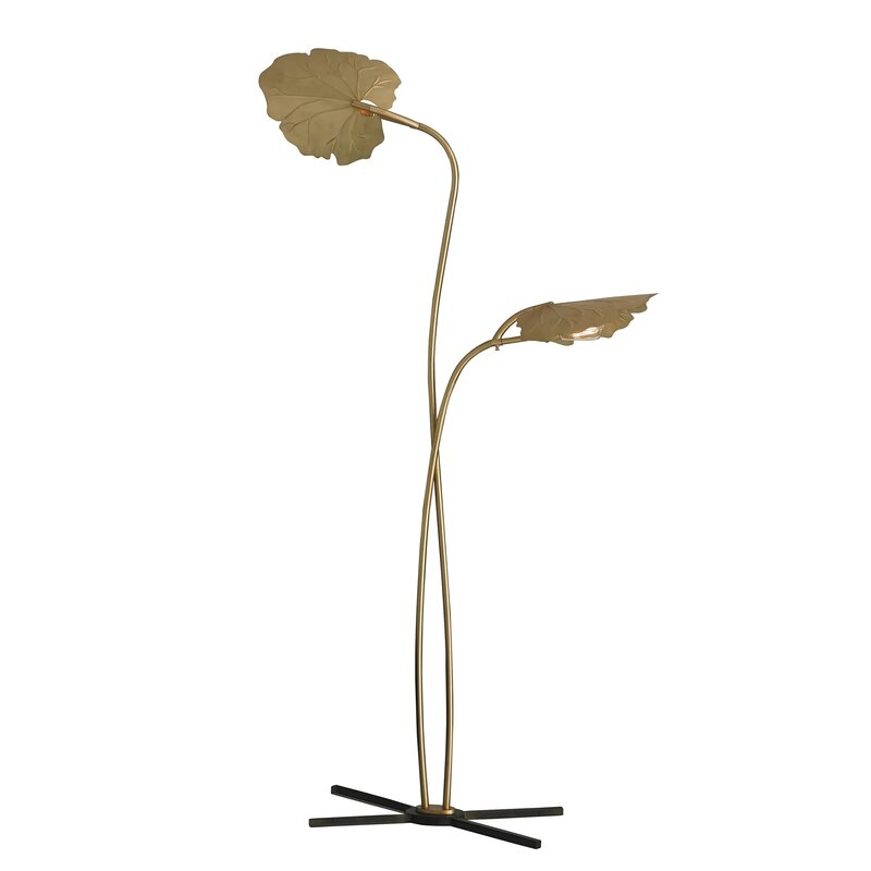 "Rimini 74"" Tree Floor Lamp. Shop Drew's Honeymoon House! {Craft Room: Resource Guide & Sources}"
