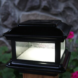 Solar Colonial 1 LED Fence Post Cap