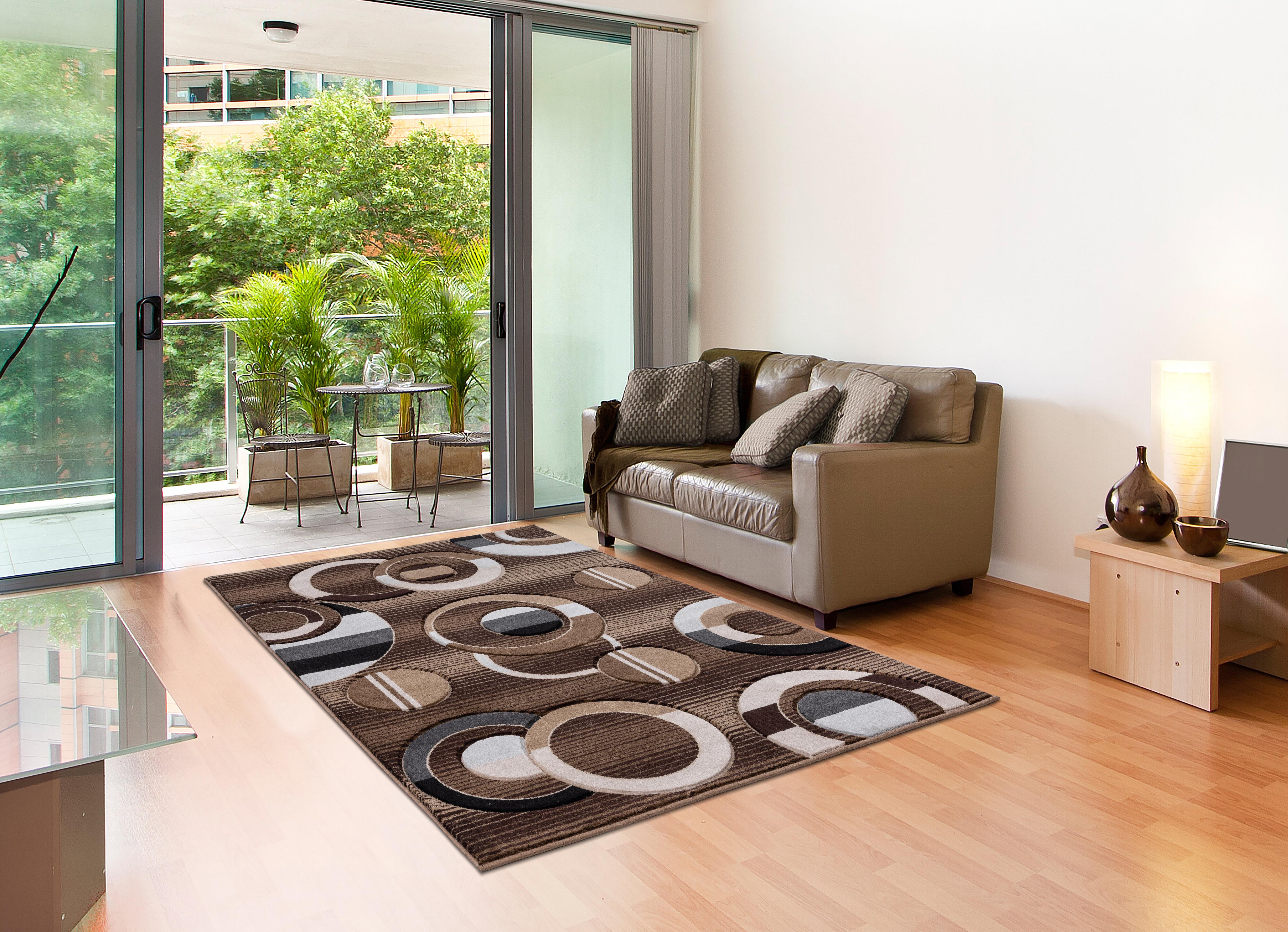 Wrought Studio Adonia Abstract Brown Gray Beige Area Rug Wayfair
