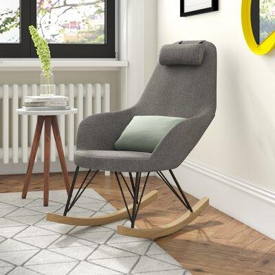 Schaukelstuhl Roche | Wohnzimmer > Stüle | Holz - Polyester | Mikado Living