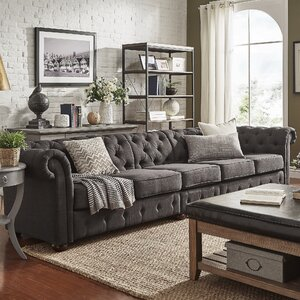 Gowans 6-Seater Button-Tufted Chesterfield Sofa by Three Posts