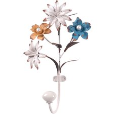 Flower Metal Wall Hook by Wilco Home