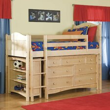 David Twin Low Loft Bed with Wakefield Dresser by Viv + Rae